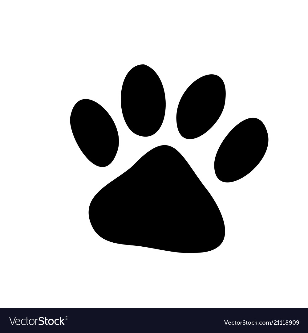 Paw prints logo isolated