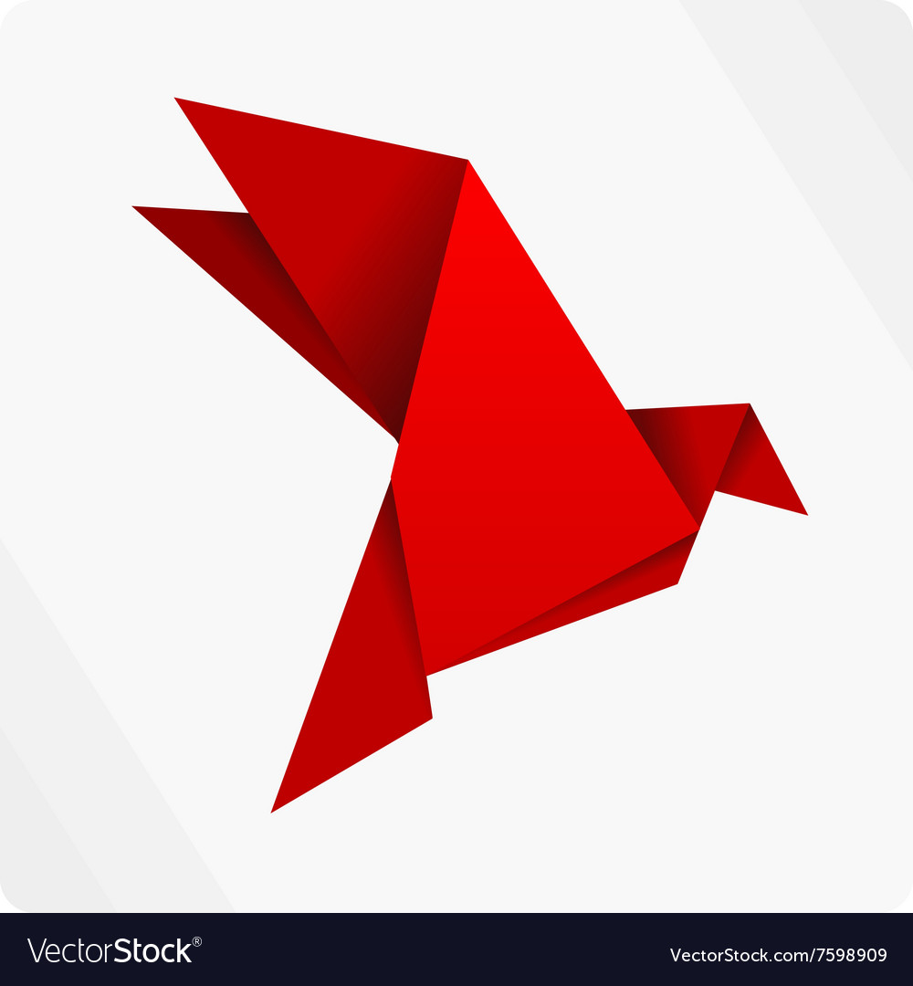 Red Origami Bird Royalty Free Vector Image Vectorstock