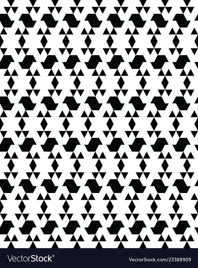 Seamless monochrome geometric patterns