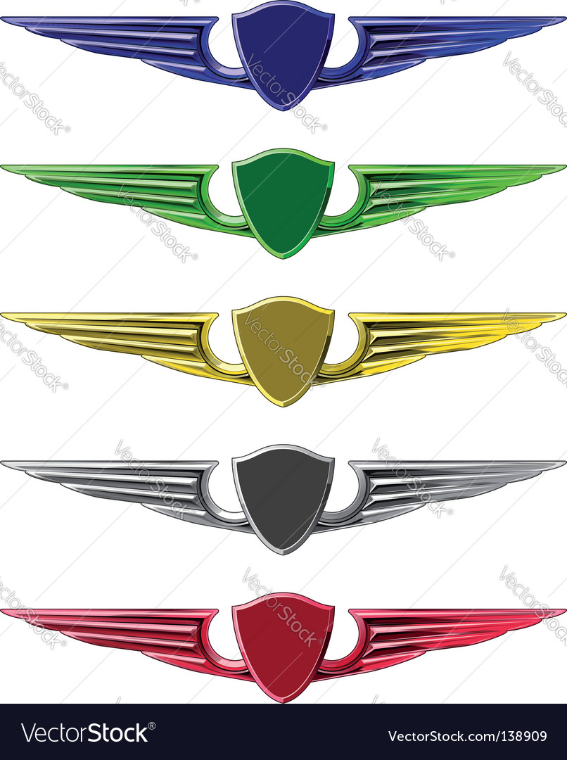 Set of emblems vector image