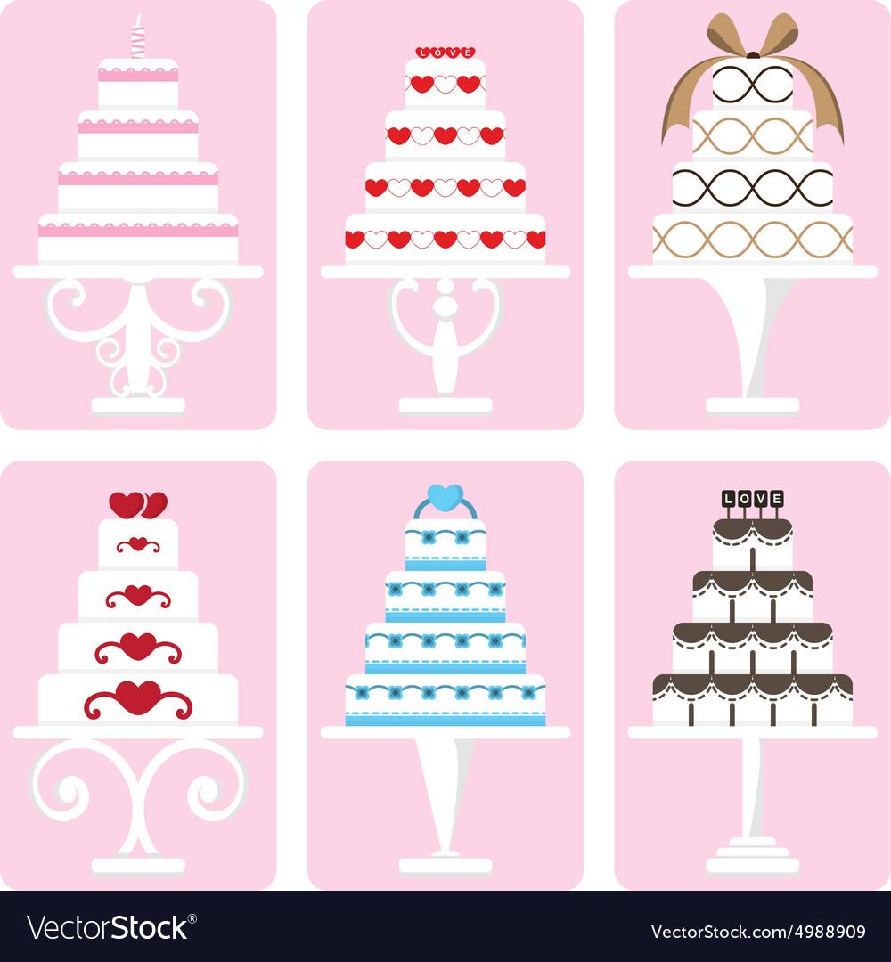 Set of wedding cake