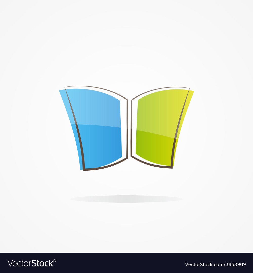 Simple book logo