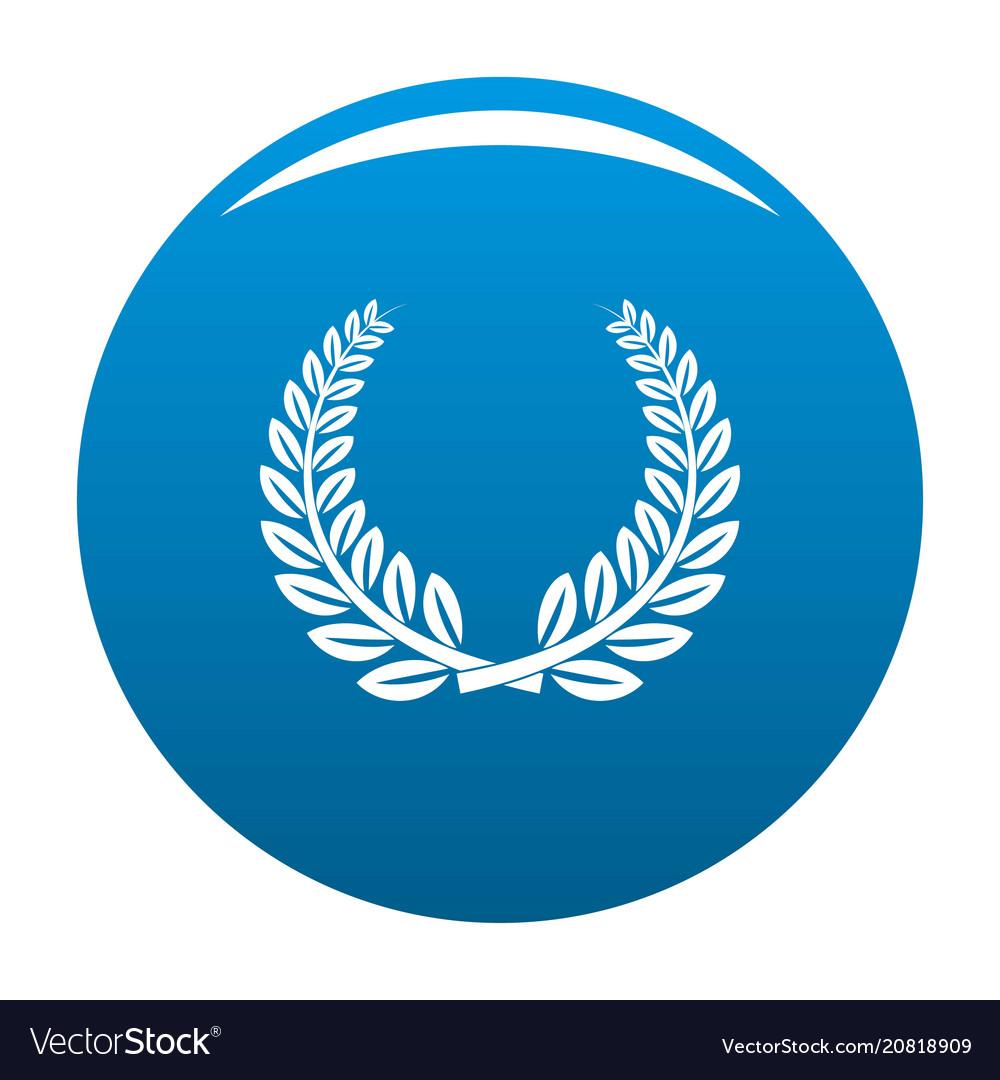 Trophy Icon Blue Vector Image