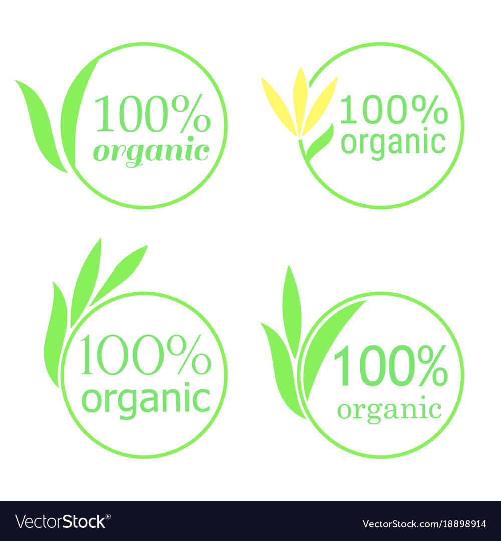 100 organic emblem