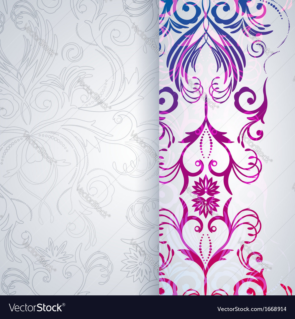 Abstract background with floral item