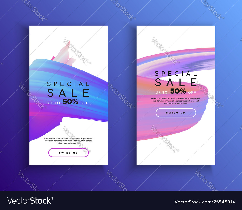 Abstract phone sale background template set