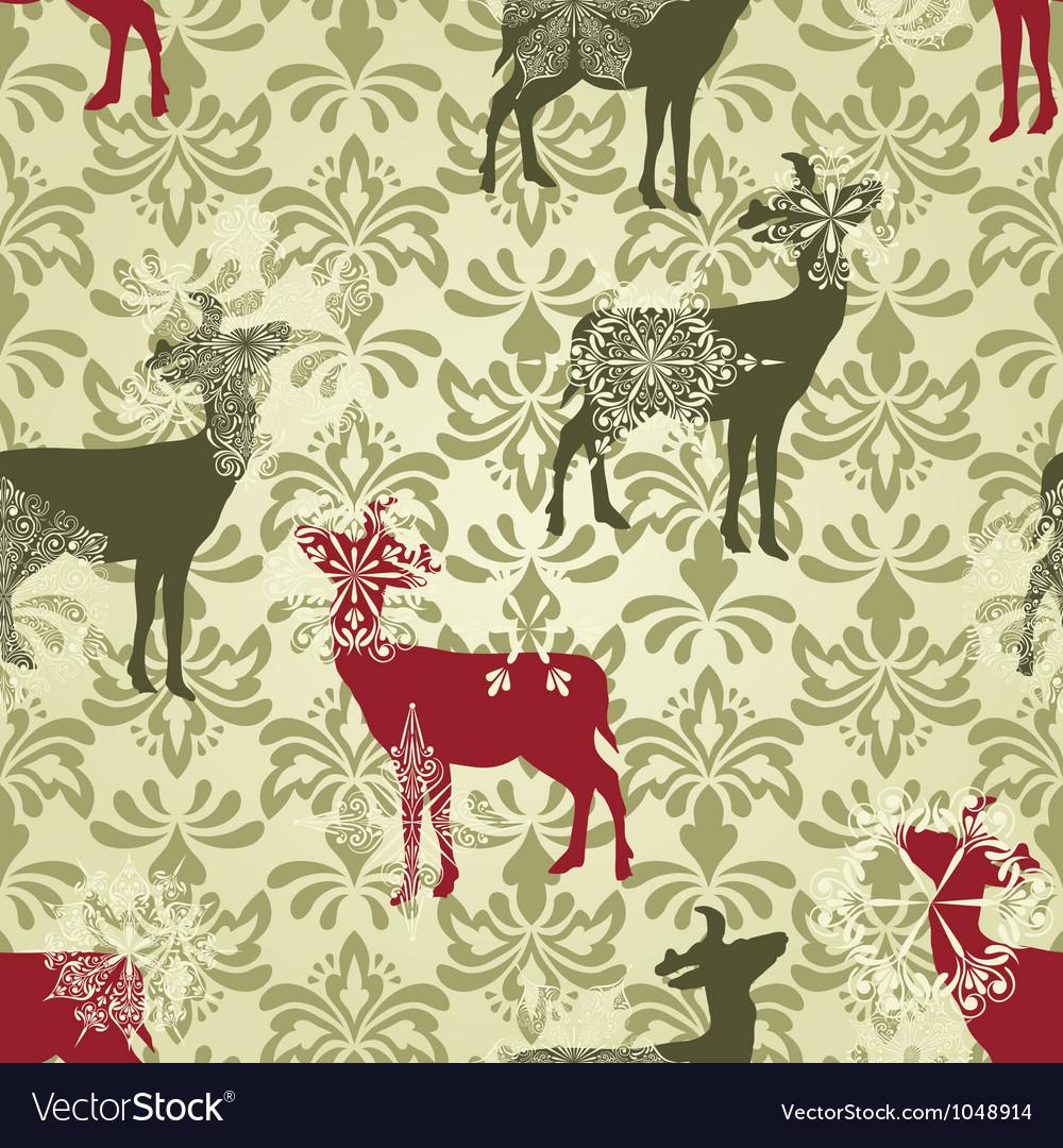 Christmas seamless vintage wallpaper