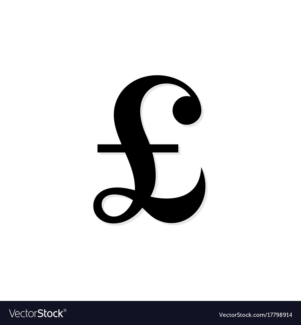 Pound Sterling Symbol Royalty Free Vector Image