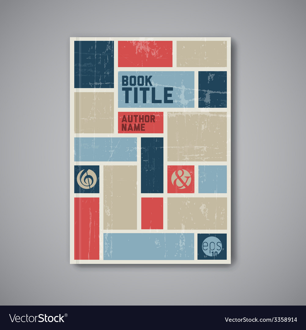 retro abstract brochure design template royalty free vector