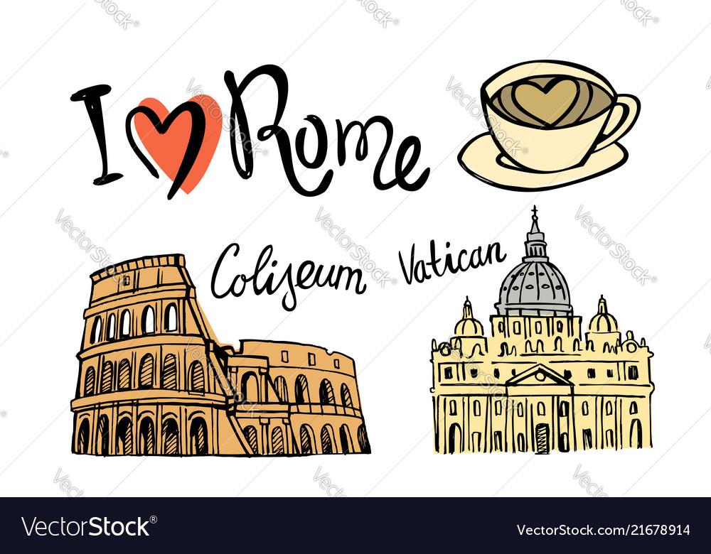Rome landmark seamless
