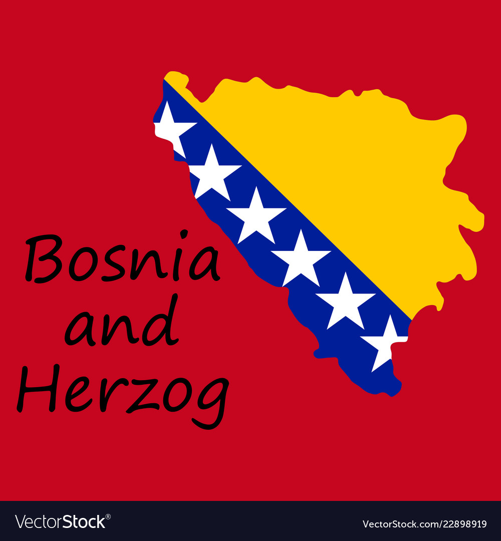 Bosnia and herzegovina political map with capital Vector Image