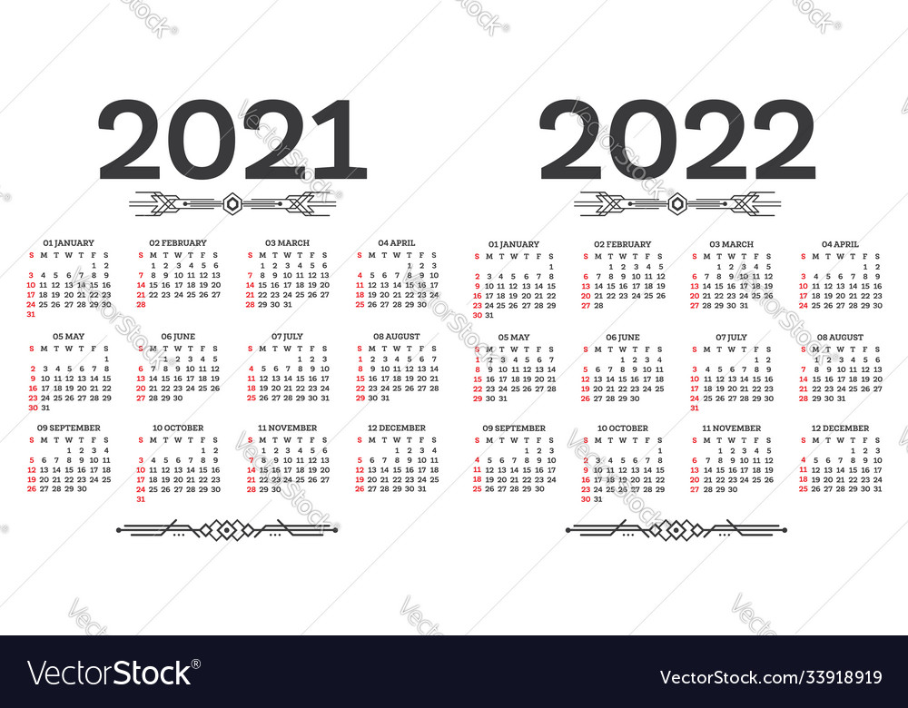 Calendar For May And June 2022.Calendar 2021 2022 Isolated On White Background Vector Image