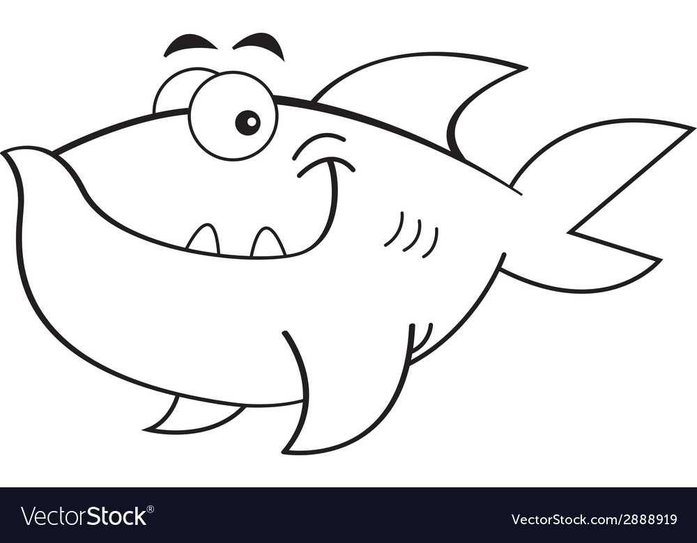Cartoon smiling fish