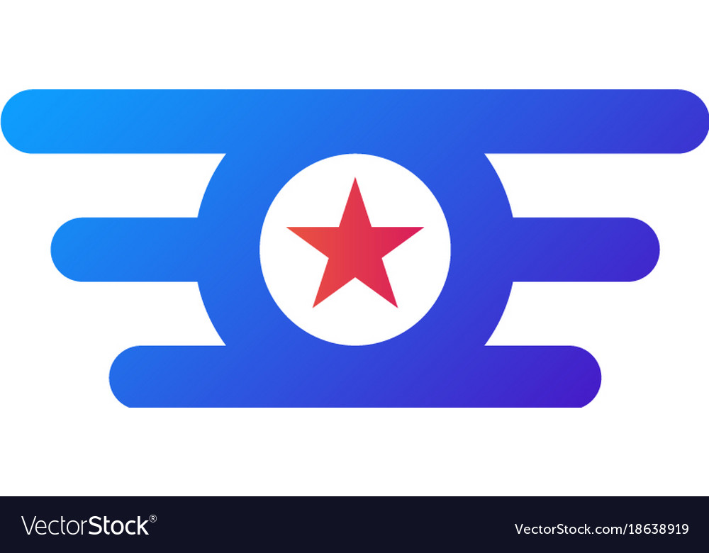 Circle star wing logo abstract design concept vector image