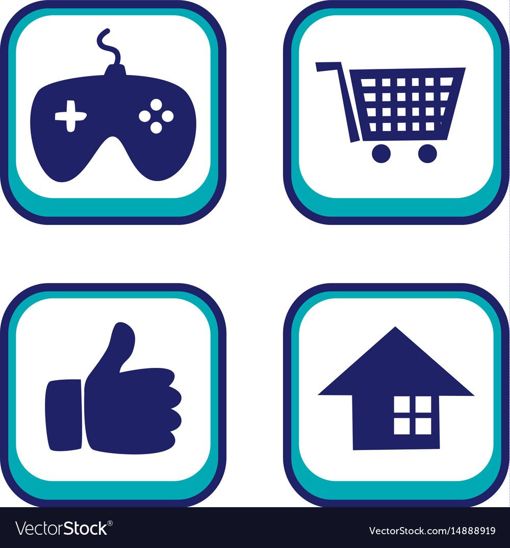 Color app icon button game asset theme