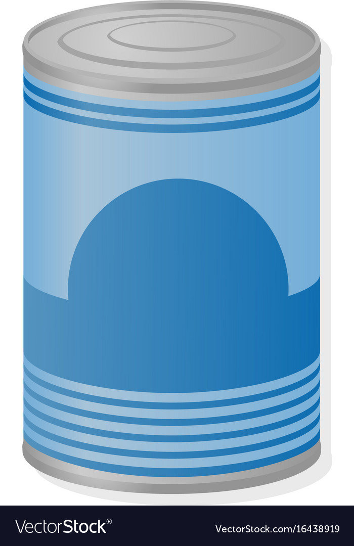Metal can of preserved food vector image