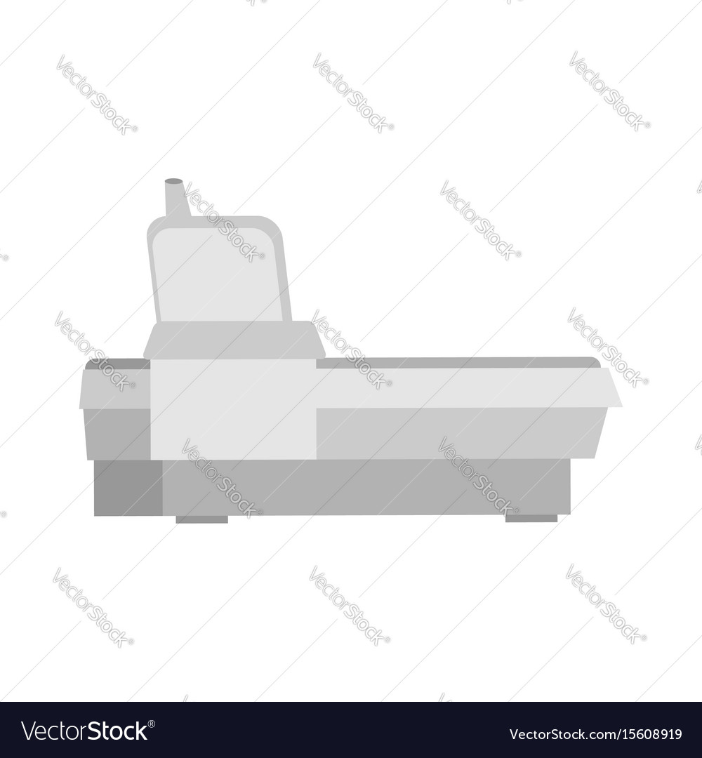 Old fax phone device isolated office desk set vector image