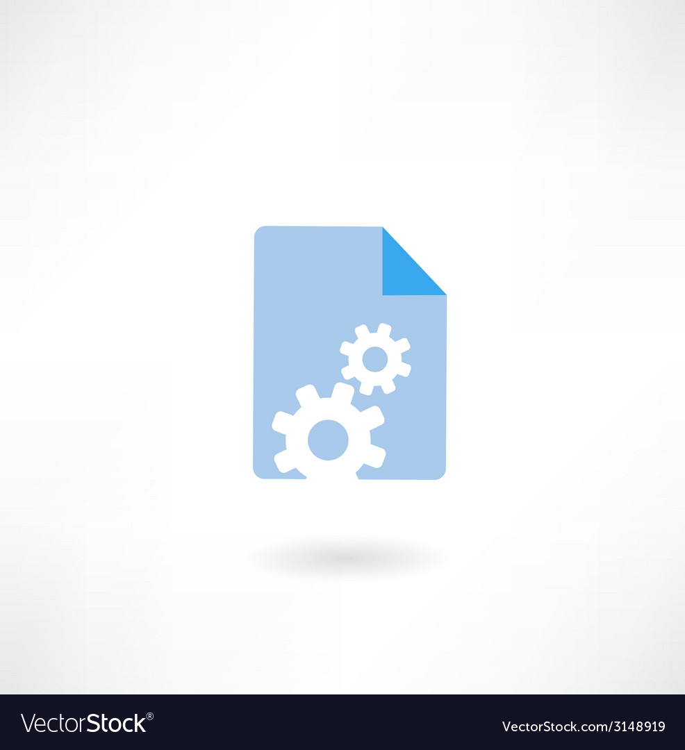 Paper with cogs icon vector image