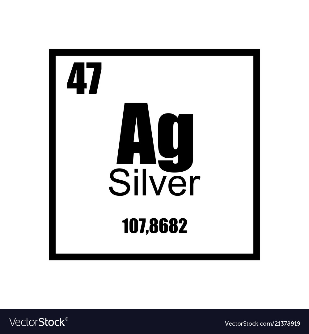 Silver periodic table element black on white vector image urtaz Image collections