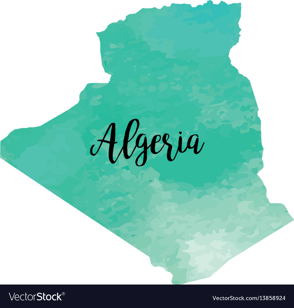 Abstract algeria map