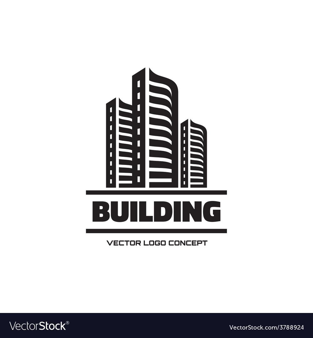Building Logo Concept Vector Image