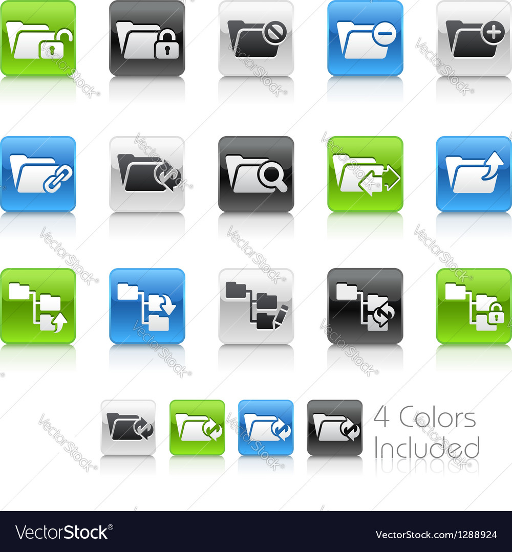 Folder Icons 1 Clean Series vector image
