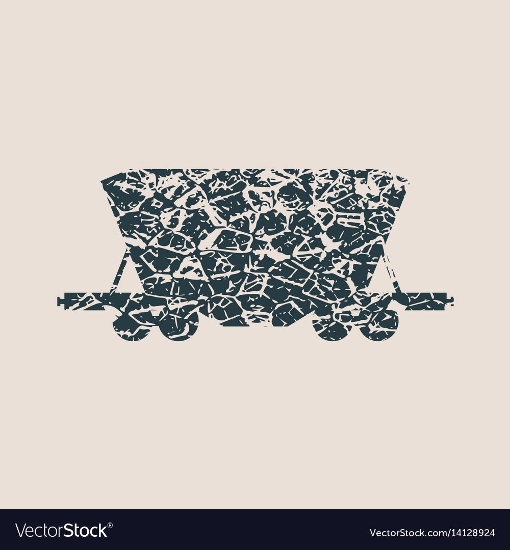 Freight wagon icon