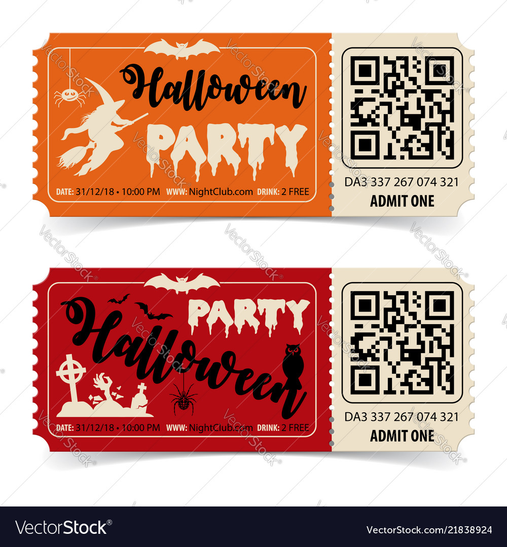 Happy halloween party tickets