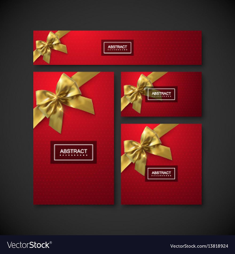 Set of design elements for holiday package design vector image