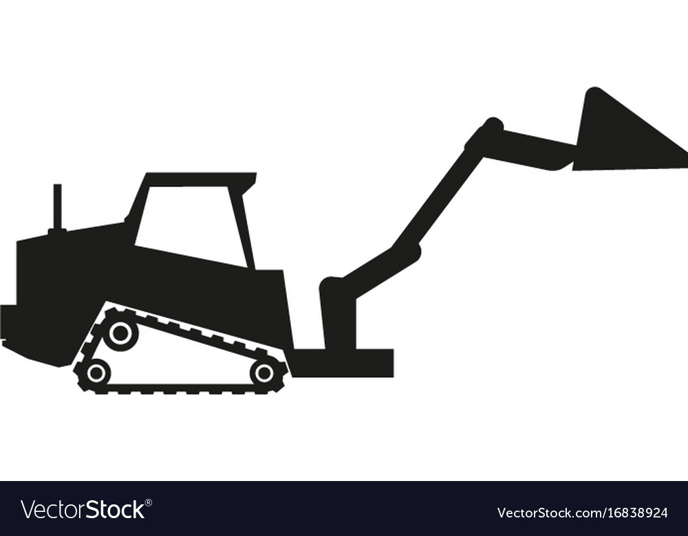 Tractor sign black icon on