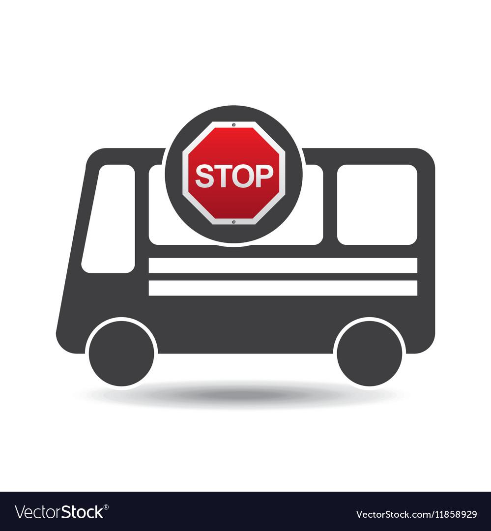 Bus side stop road sign design