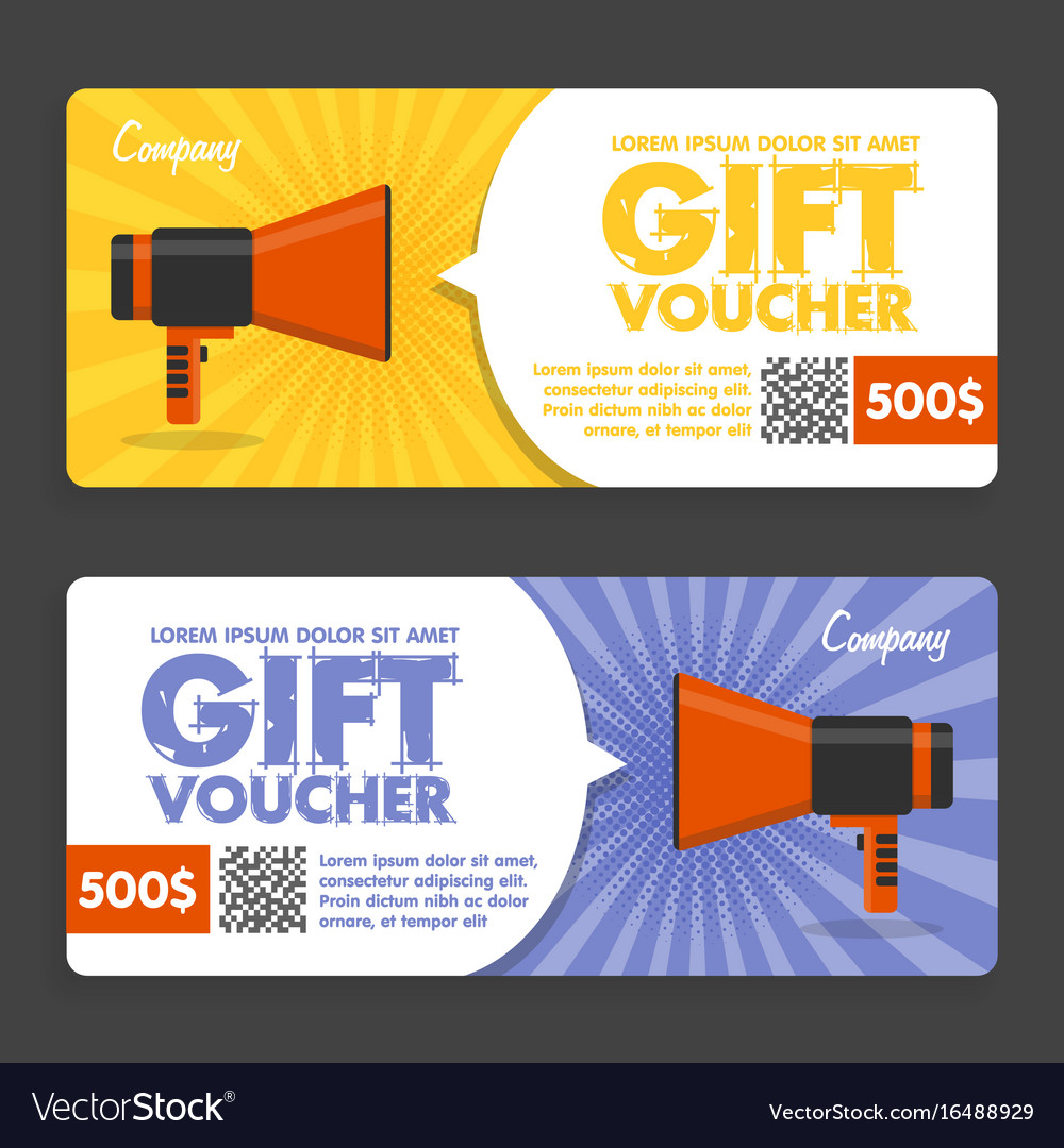 Gift voucher flat design announcement