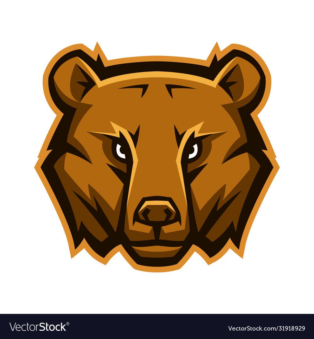 Mascot stylized bear head