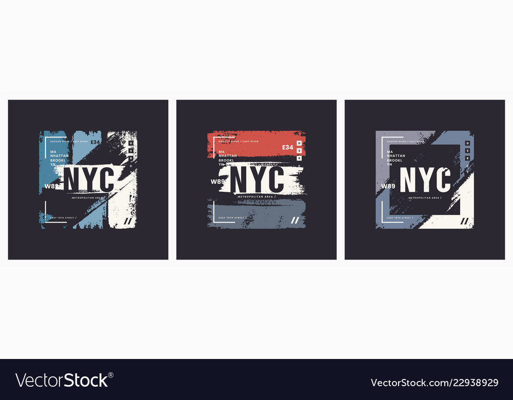 New york city t-shirt and apparel brush style