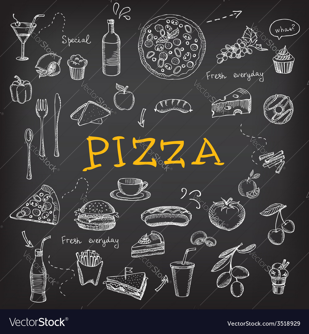 restaurant cafe pizza menu template design vector image