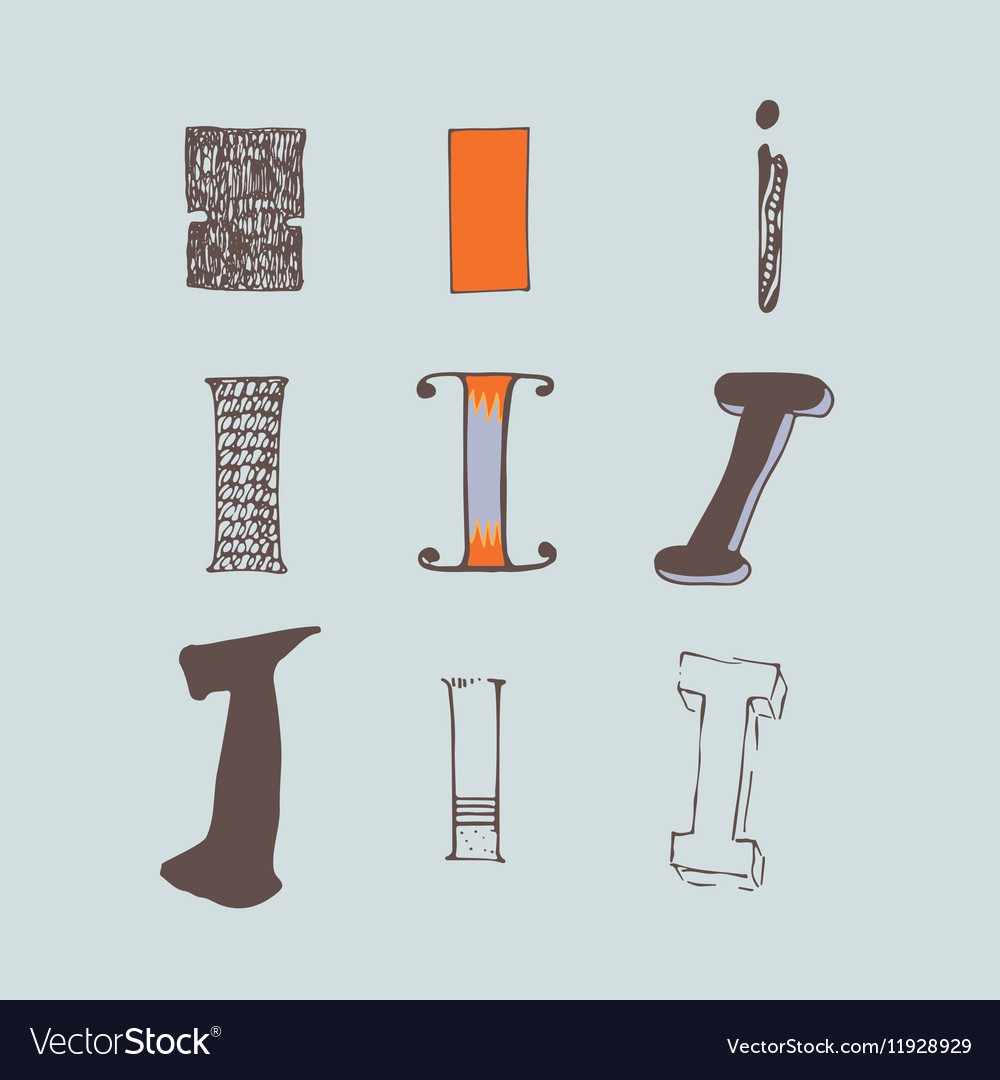 Set of colorful alphabet letters I