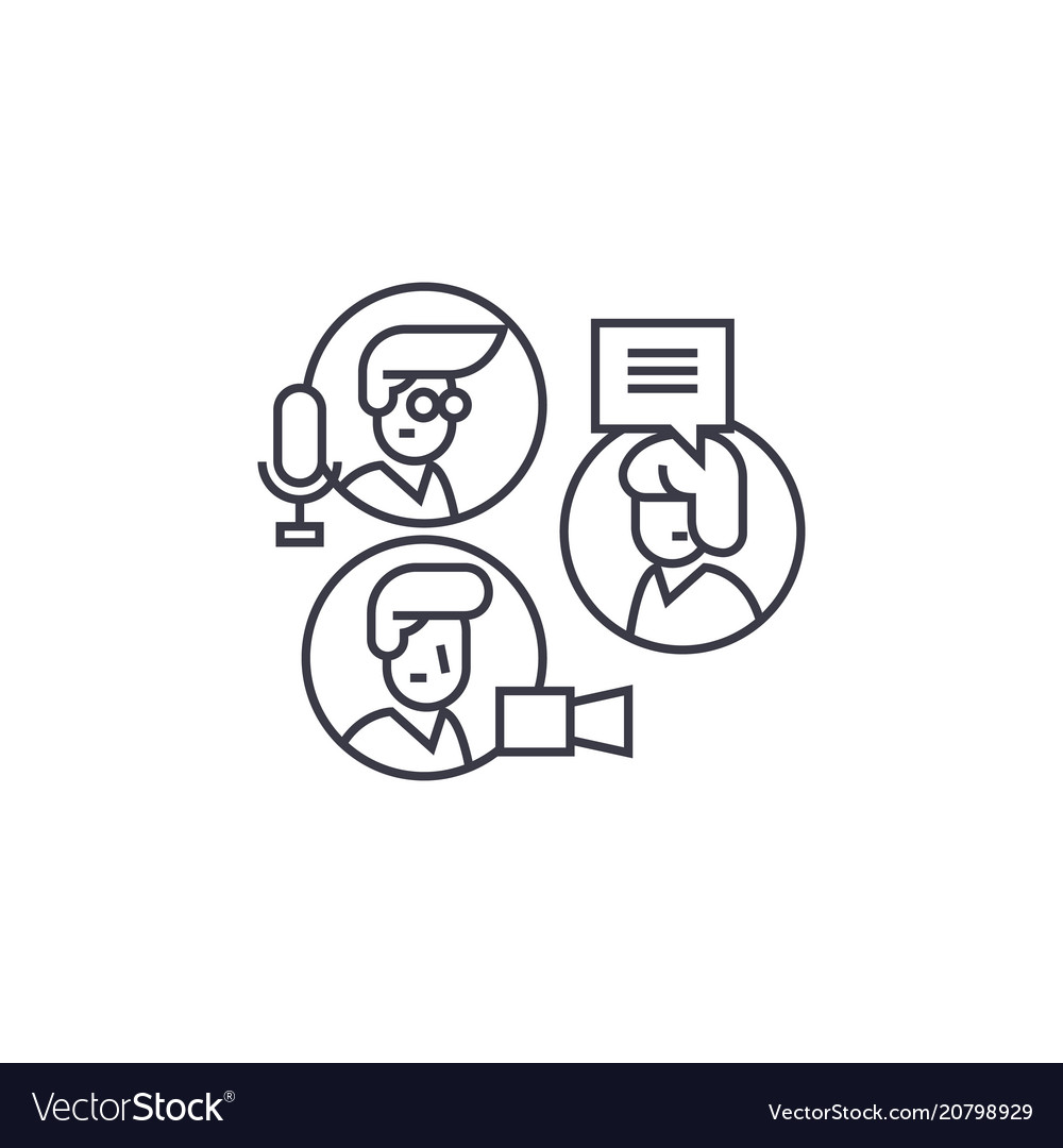 Share ideas group chat line icon sign vector image