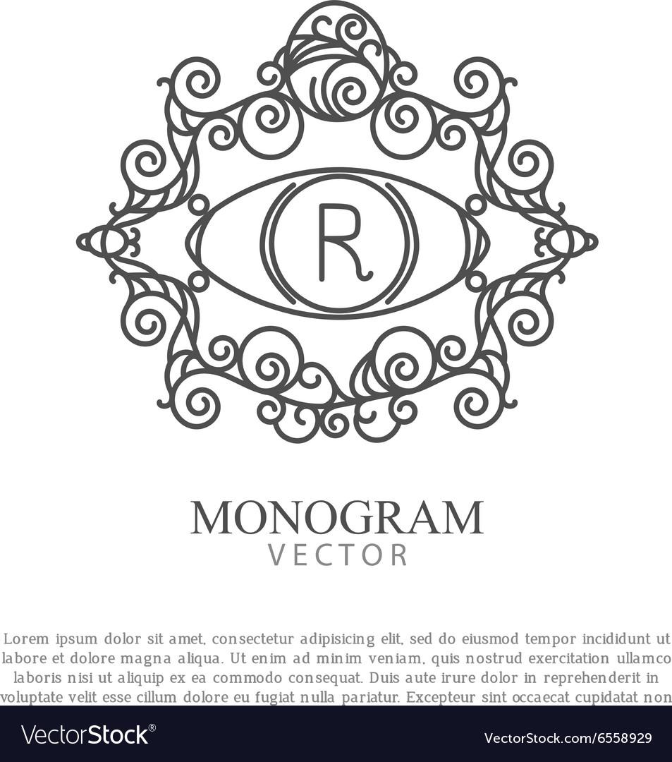 Simple and elegant monogram design for logo