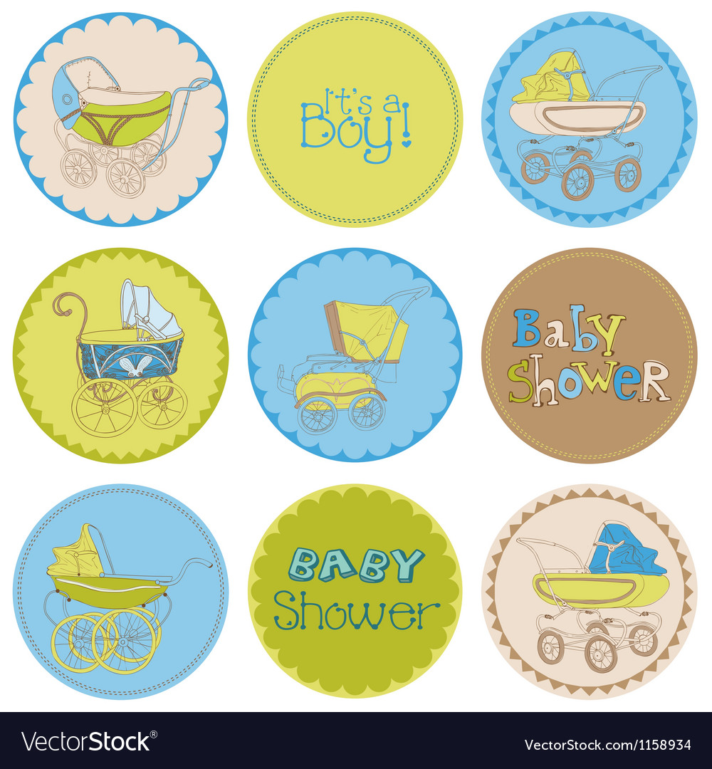Baby Boy Shower Party Set