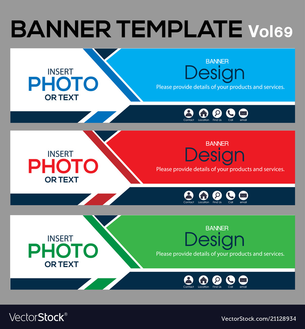 Banner template for web design vector image