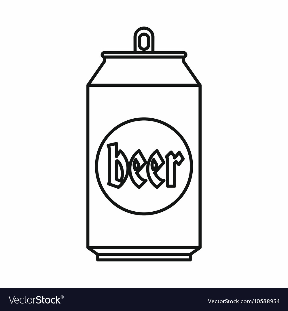 beer can icon outline style royalty free vector image rh vectorstock com beer can label vector beer can vector art
