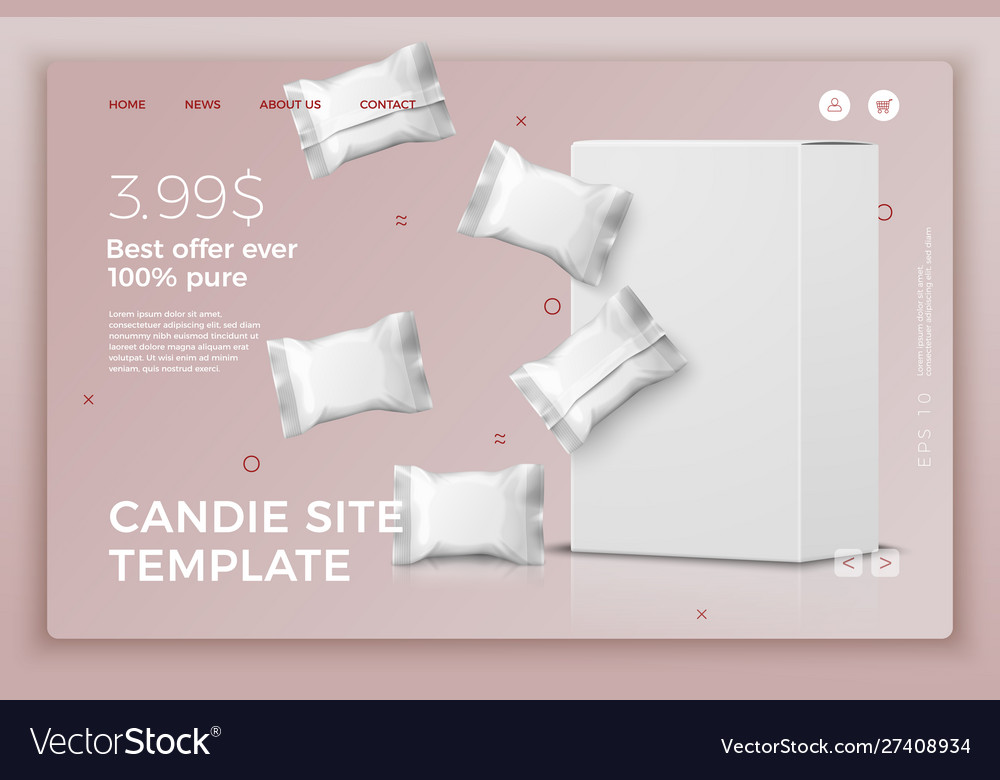 Candy bars and box modern site template