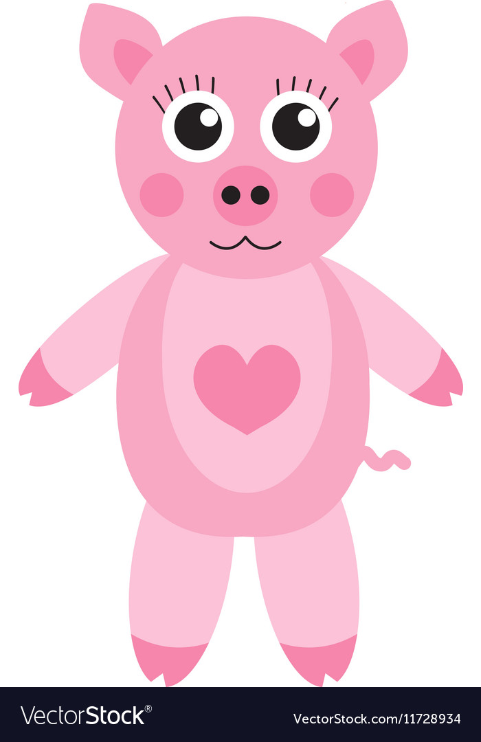 Cute cartoon pig character Children s toy pig on