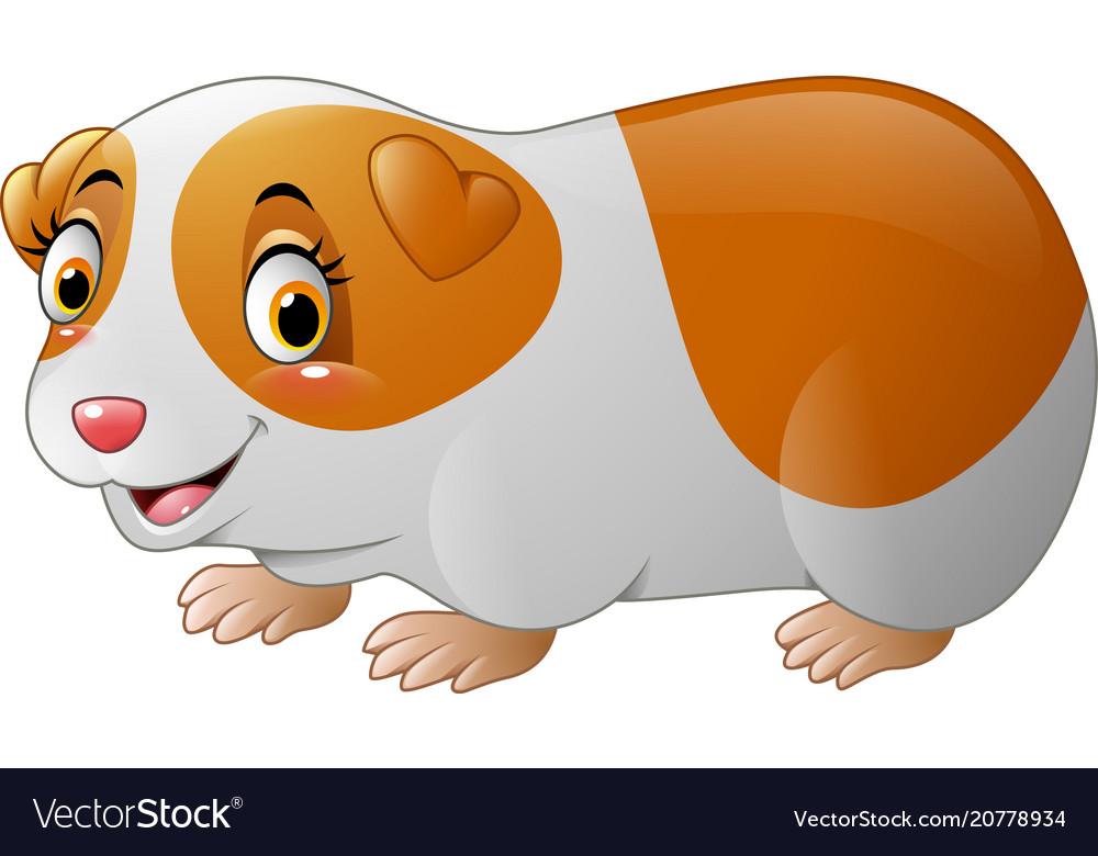 cute hamster cartoon royalty free vector image