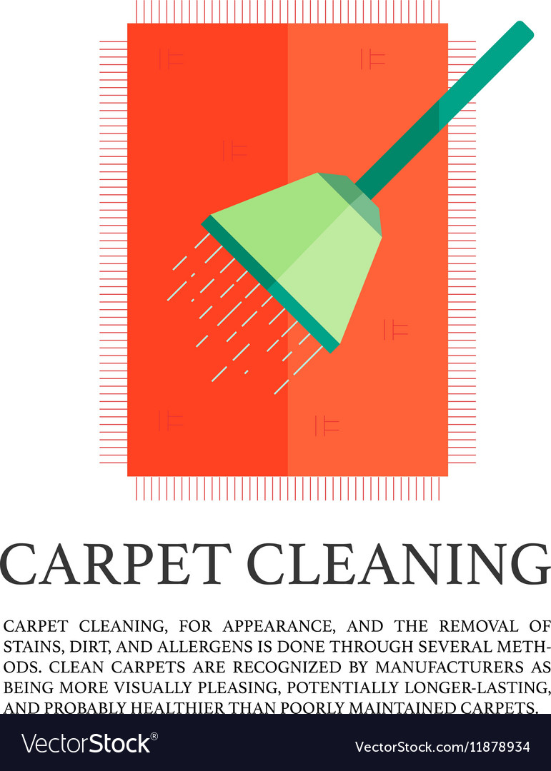 Flat carpet cleaning concept vector image