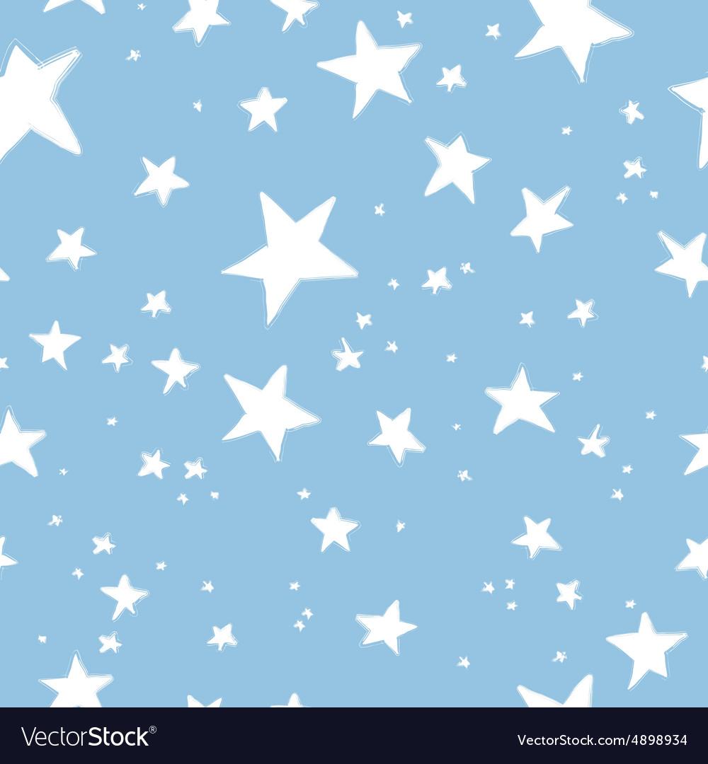 Hand drawn stars pattern