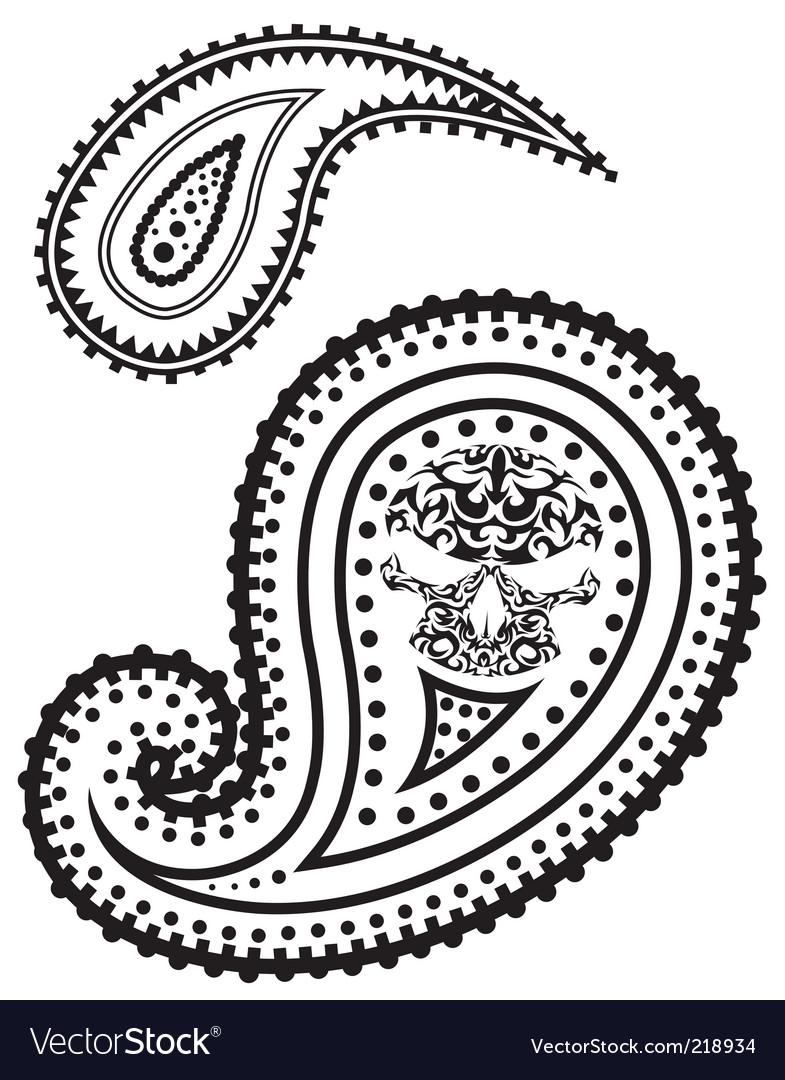 illustration of paisley pattern royalty free vector image rh vectorstock com paisley vector logo paisley vector file