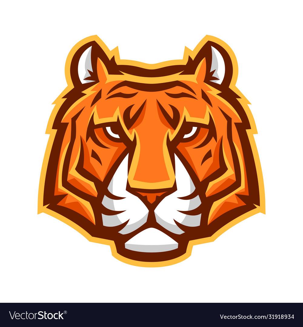 Mascot stylized tiger head