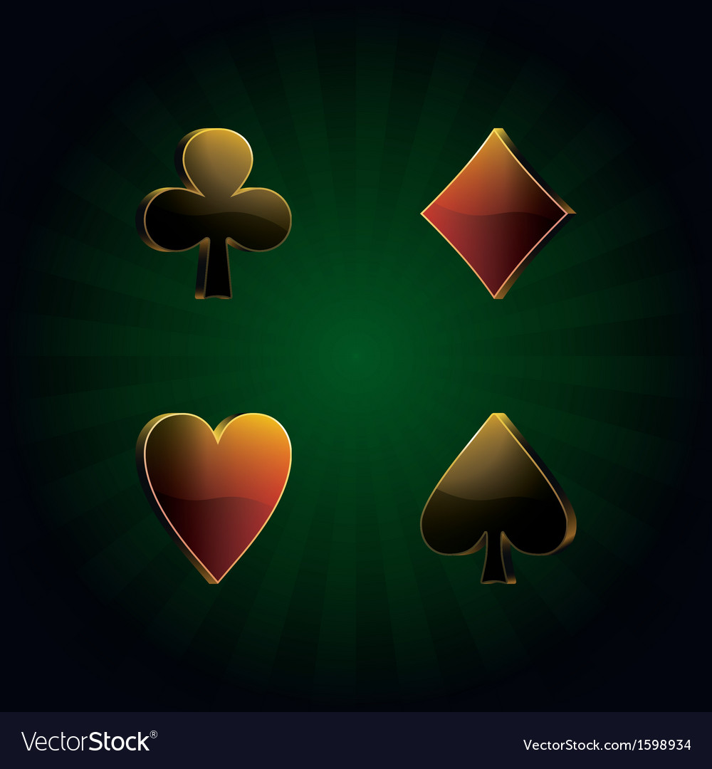 Poker card suit vector image