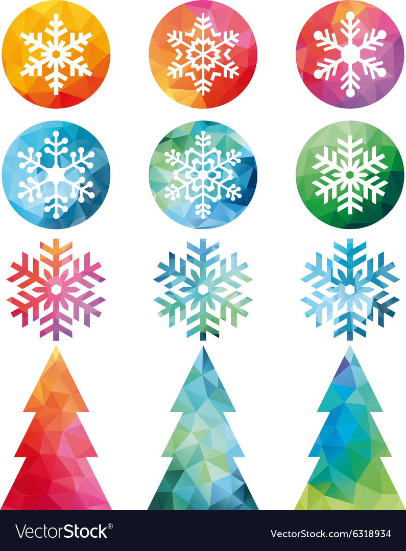 Polygonal Christmas set